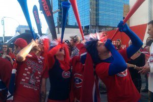 Show your colors and blow your horns! These fans are in it to win