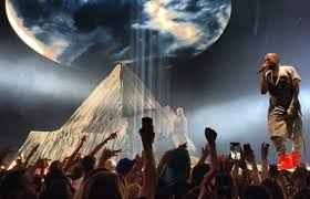 "Kanye West on stage performance for ""Yeezus"" tour"